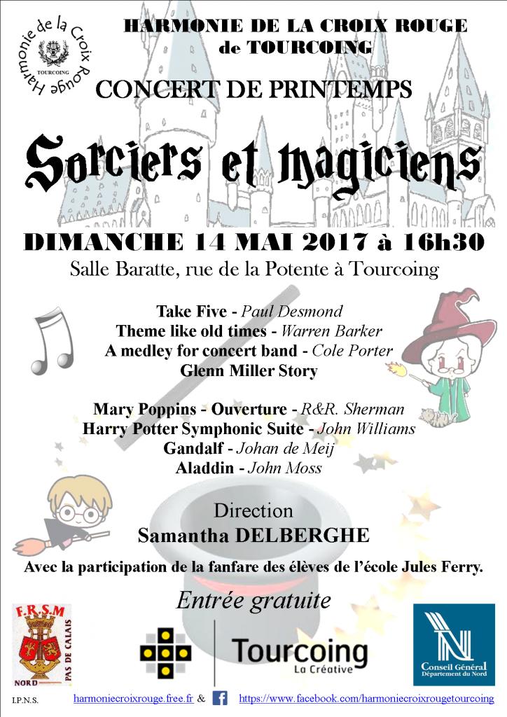 Affiche concert de printemps 2017